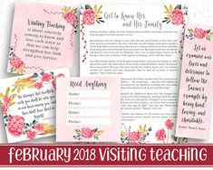 Printable handout for the February 2018 Visiting Teaching Message ----------------------------------------- These printables are great on their own or make awesome magnets, bookmarks, tags, cards, etc. They can be printed at home or at your local photo developing center (Costco