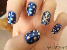 Snowflake Accent Nails - Winter Christmas Nail Art