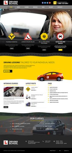Driving School Responsive Wordpress Template