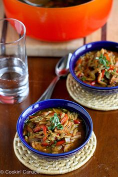 A soup to warm you to your toes: Hearty Chicken Sausage, Roasted Pepper and Whole Wheat Orzo Soup | cookincanuck.com
