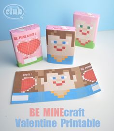 Minecraft Valentines {9 Easy Printables} Great idea for BOY valentines!