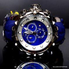 Invicta Reserve Venom Sea Dragon Gen II Blue Swiss MOP Chronograph Watch New
