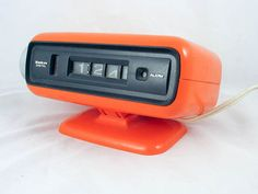 Tangerine Space Age Sankyo Electric Digital Clock by Yesterwares, $40.00