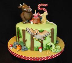 Gruffalo cake - Cake by Elizabeth Miles Cake Design 3rd Birthday Cakes, Birthday Parties, Fourth Birthday, Birthday Ideas, Gruffalo Party, Gravity Cake, Foundant, Woodland Cake, Ice Cake