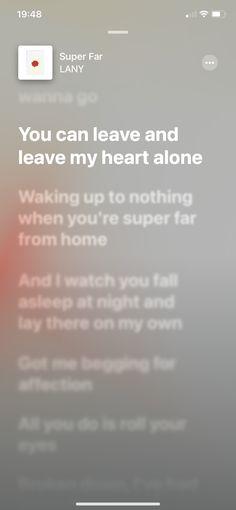 Playlist Music, Music Lyrics, Lany Lyrics, Im Hurt, Lyrics Aesthetic, Deep Thought Quotes, Apple Music, Deep Thoughts, How To Fall Asleep