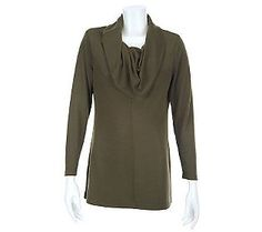 Attitudes by Renee Cowl Neck Long Sleeve Knit Top - $37.50.    This top is perfect to wear under your V-Neck Sweaters, Blazers and Moto Jackets. How are you wearing it this fall?
