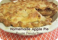 Frugal Family Tree: Happy Friday + Homemade Apple Pie