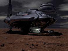 phaelon deep space transport 3d model obj mtl 9