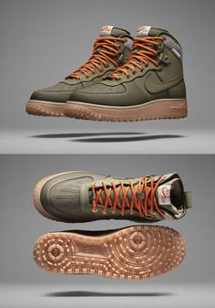 These are just plain amazing. Nike Air Force 1 Duckboot. Utilitarian but yet stylish. I like.