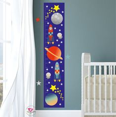 Growth Chart Decal Space Height Chart by EnchantedInteriorsUK