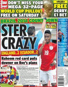 England 2 - Ecuador 2 : 4th June 2014 : Friendly