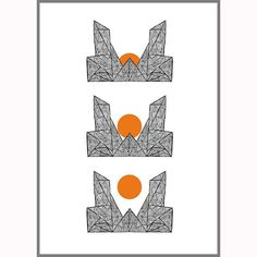 Happy Sunday! - Sunrise - is available in all sizes and I ship worldwide!  #art #poster #town #city #sun #sunrise #sunday #simple #lines #print #prints #draw #handdrawn #orange #interior #interiordesign #danish #norwegian #design #darktown #dark #blacktown #blackcity