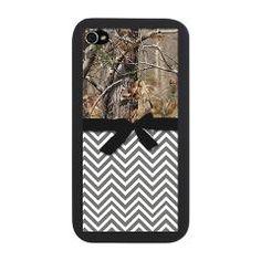 iPhone Snap Case w/ Camo & Grey Chevron