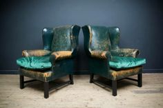 Drew Pritchard antique leather chairs