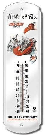 Texaco Fire Chief Metal Vintage Wall Thermometer | A Simpler Time