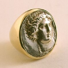 Silver/Gold Tetradrachm from Amphipolis - FJ.5114. Circa: 354 BC to 353 BC. Possibly an 18th -19th century copy of the original. Amphipolis was founded by Athens in 437 B.C. But fell under the power of the Macedonian king Philip II, father of the famous Alexander the Great, in 357 B.C. From the middle of this period, the city produced a magnificent series of tetradrachms.