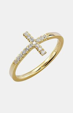 Bony Levy Diamond Cross Ring (Nordstrom Exclusive) available at #Nordstrom
