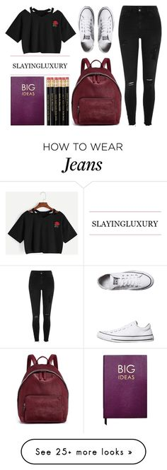 """""""BACK TO SCHOOL"""" by tamsy13 on Polyvore featuring River Island, STELLA McCARTNEY, Converse, Sloane Stationery, BackToSchool, polyvorecommunity and polyvoreeditorial"""