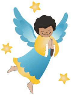 vector cartoon image of a male angel male angel with brown hair in rh pinterest ca