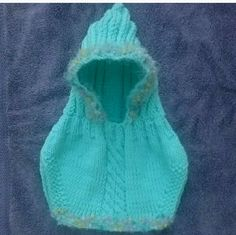 Hand Knit Baby Hoodie Toddler Winter Spring Fall Hand Made Accessories Shower gift Baby Basket Filler 12 months 18 months Hood Cowl by LorisArtisanAccesrys on Etsy