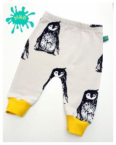 NEW! Penguin baby leggings, Baby clothes, baby leggings, organic baby clothes, unisex baby clothes, baby trousers, baby pants, baby shower