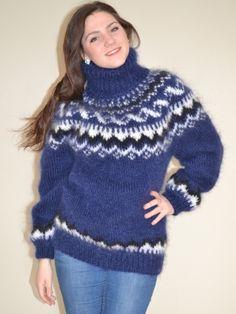 Icelandic sweater - navy blue