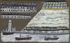 Alfred Wallis Ships and Lighthouse, Houses