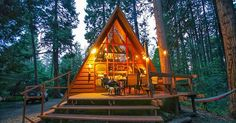 As Seen In Sunset - Central AC, Hot Tub, Secluded! - Cabins for Rent in Idyllwild-Pine Cove, California, United States A Frame Cabin, A Frame House, Ideas De Cabina, Sundance Spas, Cabin In The Woods, Cozy Cabin, Cozy Cottage, The Great Outdoors, House Styles