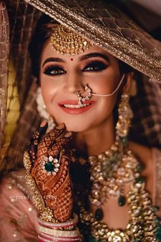Fashion Beauty Lifestyle : 51 Most Beautiful Indian Bridal Makeup Looks and C. Bridal Portrait Poses, Bridal Poses, Bridal Photoshoot, Wedding Poses, Bridal Tips, Indian Photoshoot, Bridal Shoot, Wedding Tips, Indian Wedding Makeup
