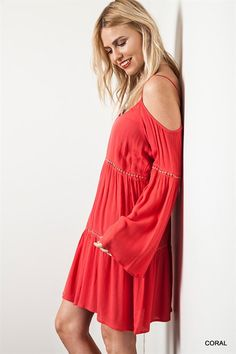 Coral Boho Babe Dress