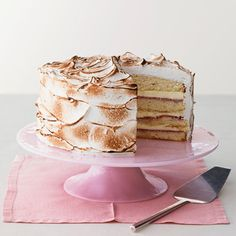 Lemon Marshmallow Cake - 2 of my favorite things . . . lemons & marshmallows!