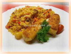 Couscous & panierter Schafskäse