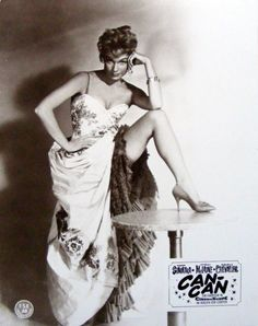 """Shirley MacLaine in """"Can-Can,"""" superbly costumed from start to finish by Irene Sharaff"""