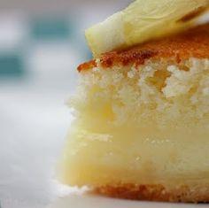 Lemon Cake-Pie...I love lemon!