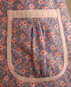 Smocked Pocket with contrast trim ~ link to tutorial / Creations By Michie Blog