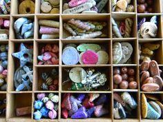 Craft room storage ideas using vintage items