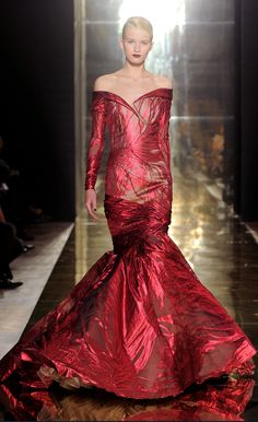 Evening gown, couture, evening dresses, formal and elegant Georges Charka FW12-13  red