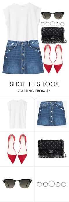 """Sin título #13063"" by vany-alvarado ❤ liked on Polyvore featuring Zara, Chanel and Ray-Ban"