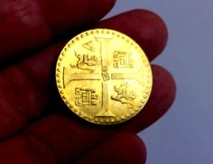 PERU doubloon BETWEEN 1690 TO 1740 LUXURY FAKE
