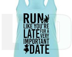 Run Like You're Late for a Very Important Date | Alice in Wonderland Women's Ideal Racerback Tank | Run Disney Cheshire Cat Running Tank Top