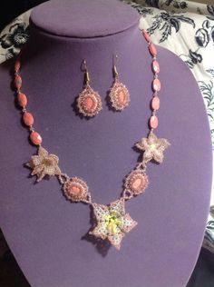 Peach delight - Jewelry creation by Lizy N. B.