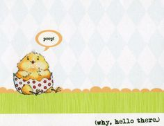 Single NotecardWhy Hello There Blank by theillustratednest on Etsy, $3.50