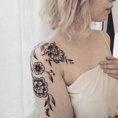 "555 Likes, 11 Comments - Cosmic tattoos,love & travel (@eugeniekasher) on Instagram: ""Ornemental tattoo based on traditional russian flowers called ""Khokhloma"" SWIPE  for more…"""