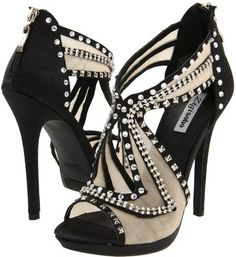 Very Elegant Black Zigi Epiphany Heels with Beautiful Custom Designs