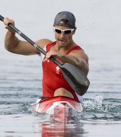 Adam van Koeverden Canoe And Kayak, Kayak Fishing, Kayak Pictures, Men's Sportswear, Canoes, World Of Sports, Arnold Schwarzenegger, Santa Barbara, Water Sports
