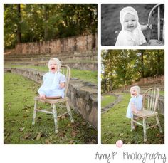 Children Photographer | Outdoor session | One year session| Chair prop in girl's photo session