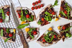 Sweet Pixel: Tarte flambée Vegetable Pizza, Pixel, Vegetables, Entertaining, Fall, Pie, Autumn, Fall Season, Vegetable Recipes