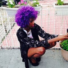 "myhaircrush: "" Beautiful color. Tag the source #myhaircrush #purple #fro """