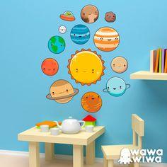 Vinilos Infantiles: Kit Planetas del espacio #vinilo #pared #wawawiwa #decoracion #infantil #TeleAdhesivo