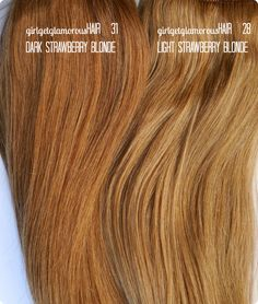 Signature Strawberry Blonde Shade Description: 31Dark Strawberry Blonde Shade 31is ourstrawberry blonde shade that is more red than our original Strawberry